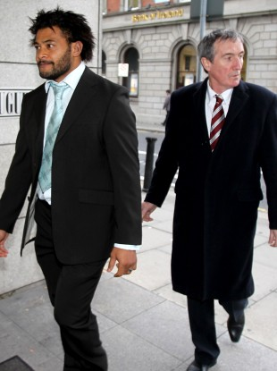Munster's Sam Tuitupou and Munster Press Officer Pat Geraghty