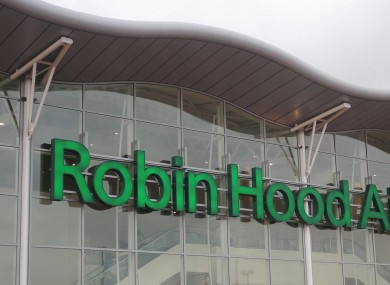 Robin Hood Airport in Nottingham, from where Paul Chambers posted a tweet that attracted the eyes of the law.