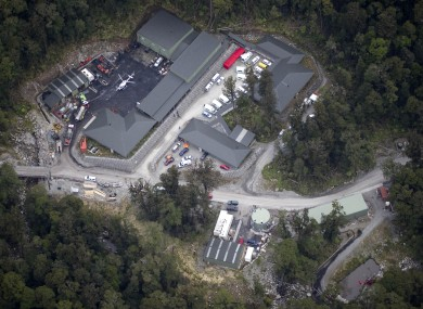 The Pike River coal mine in New Zealand, where 27 workers remain missing.