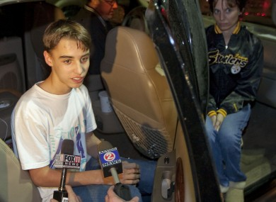 Austin Biehl, one of the 23 students held at gunpoint at Marinette High School speaks to local media after his release.
