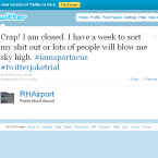 An account proclaiming to be that of Robin Hood Airport itself (though obviously satirical) gets in on the joke...