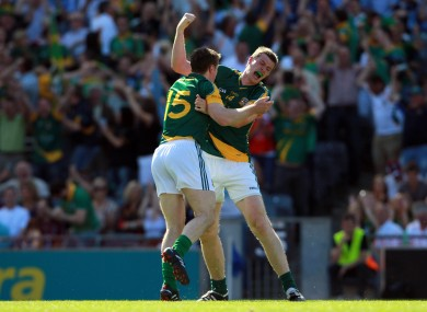 Stephen Bray practises his upper-cut during last summer's Leinster championship.