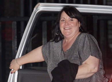 Mary Byrne arrives at a London studio to appear on ITV's morning show Daybreak this morning, following her elimination from The X Factor last night.