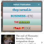 If you just hit the arrow in the top-right corner, you'll be given the option to switch between any of our four publications: TheJournal.ie, TheScore.ie, Business ETC and The Daily Edge.
