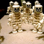 Lego man needs a second helping of Christmas dinner if these skeletal models are anything to go by...<span class=