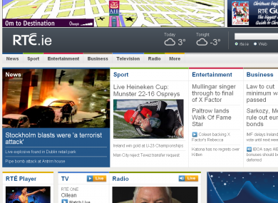 The RTÉ website is the most visited site in Ireland, the Sunday Business Post says, with over 300,000 unique visitors a day in May.