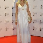 RTÉ's Miriam O'Callaghan arriving on the red carpet for the 8th Irish Film and Television Awards at the Convention Centre, Dublin. Photo by KOBPIX.