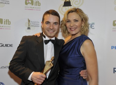 Martin McCann, IFTA winner of Lead Actor in a Film, with actress Kim Catrell.
