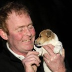 A nice good news story to end the week: This is John Greene from Greystones, Co Wicklow, with his eight-week-old Jack Russell puppy Nutty who he gave mouth-to-mouth to after it almost drowned in a garden pond. (PA Images/Niall Carson)