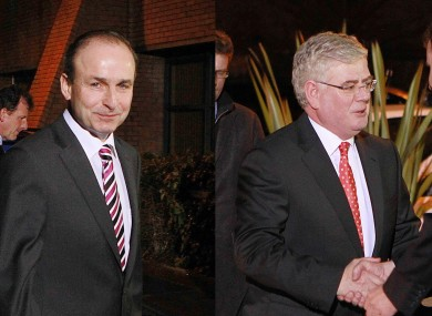 Micheál Martin and Eamon Gilmore were divided on whether the Central Bank had backed the 2008 bank guarantee.