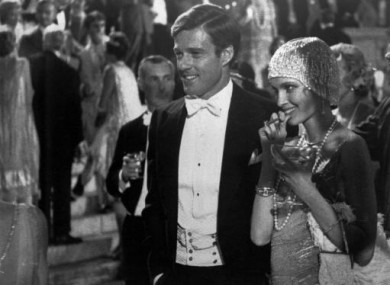 Robert Redford was Jay Gatsby, and Mia Farrow, right, Daisy, in the 1974 film, The Great Gatsby, based on F Scott Fitzgerald's novel