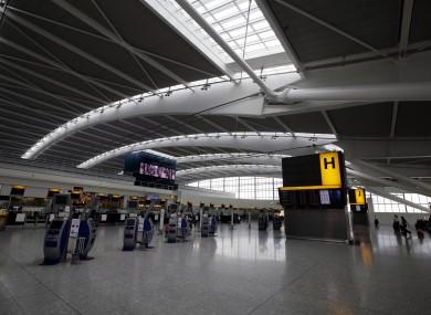 Terminal 5 at Heathrow Airport. File Photo