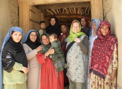 Danny Harvey with women of the shura council in Shar Shuri village, Kalafghan, Afghanistan