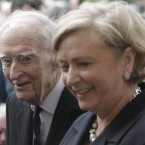 Former Taoisigh Liam Cosgrave and Children's Minister Frances Fitzgerald attend the National Easter Rising commemorations.