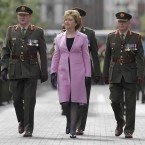 Chief of Defence forces Lieutenant General Sean McCann (left) with President McAleese.