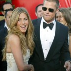 Brad Pitt with his wife Jennifer Aniston had a high-profile romance, culminating in a $1 million wedding. In their vows,Brad vowed to split the difference on the thermostat, and Jennifer promised to always make his favorite banana milkshake. The promises weren't enough however, and the couple split five years later.<span class=