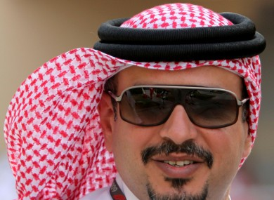The Crown Prince of Bahrain Sheik Salman Bin Hammad al Khalifa