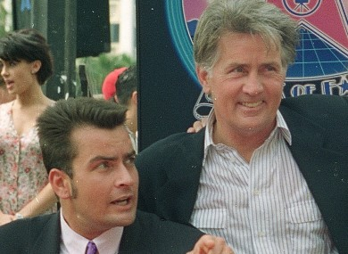 Charlie and Martin Sheen in 1994