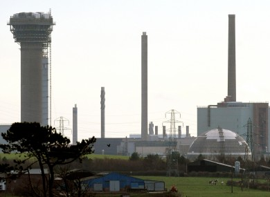 The Sellafield nuclear power plant in Cumbria, near which five men were arrested yesterday.