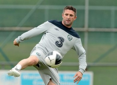 Keane is now a major doubt for the Euro 2012 qualifier on Saturday.