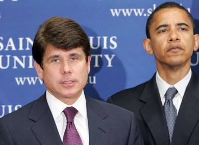 Blagojevich and Obama in 2005.