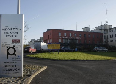 Limerick Mid-Western Regional Hospital (File photo)
