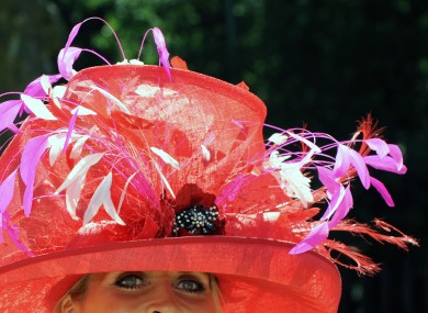 A hat on display at Ladies' Day 2010