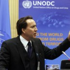 Hollywood star Nicholas Cage is a Goodwill Ambassador under the UN's Office on Drugs and Crime. (AP Photo/Ronald Zak)