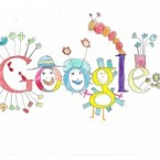 A doodle by Layla Karpuz from Mary, Mother of Hope Junior National School in Dublin. The doodle appears on www.google.ie on 9 March