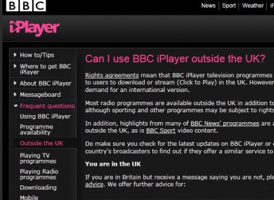 BBC launches a global version of the iPlayer · TheJournal ie