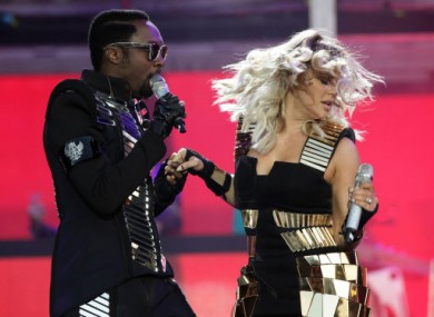 Will.I.Am and Fergie are due to take to the Oxegen stage this weekend.