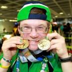 Double gold medal winner Simon Darragh.