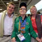 Medal haul: Pat Maguire, Teresa Maguire and Collette Maguire.