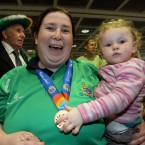 Ella Ryan gets to grips with Margaret Dunnigan's medal.