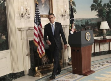 Obama after his second address to the nation on the debt ceiling issue.