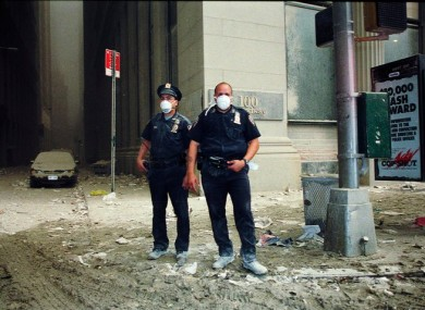 Police officers in New York on September 11, 2001