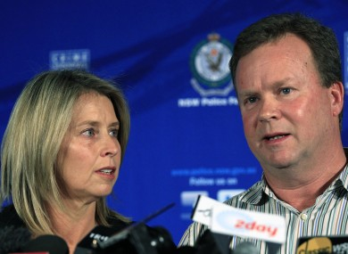 Madeleine's parents speak to reporters yesterday after their daughter's ordeal