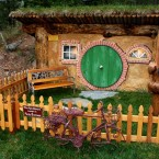 Bilbo Baggins' house , complete with 'No admittance except on party business sign'.
