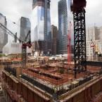 Progress on the Three World Trade Centre building at the World Trade Centre site in New York. (AP Photo/Mark Lennihan)