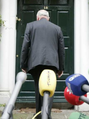 David Norris returns to his home after this afternoon's statement.