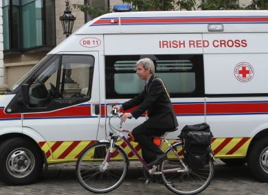 Dublin Lord Mayor Andrew Montague tries out the new slimline 'ambulance'...