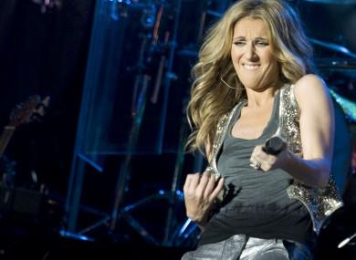 Celine Dion on stage in 2008