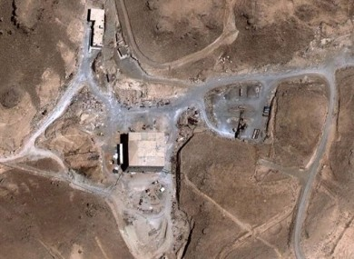 An aerial image taken in 2007 of a suspected Syrian nuclear reactor site.