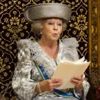 Dutch Queen Beatrix opening parliament. Salary: €5.1m GDP: €554bn