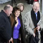 Presidential candidate Dana Rosemary Scallon (centre) arrives at Dublin Castle. Image: Laura Hutton/Photocall Ireland
