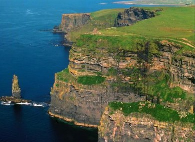 Undated Shannon Development image of the Cliffs of Moher.
