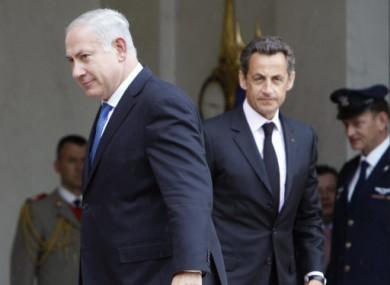 Israeli Prime Minister Benjamin Netanyahu and French President Nicolas Sarkozy in 2010