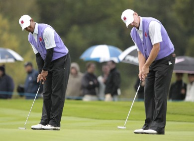 Woods and Stricker had a highly successful partnership at the Presidents Cup two years ago.
