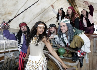 Samanta Mumba and friends launch the Robinson Crusoe and the Caribbean Pirates panto at the Gaiety Theatre.