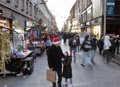 Christmas shoppers on Dublin's Henry Street